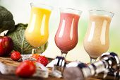 picture of fruit shake  - Cocktails with fresh fruits - JPG
