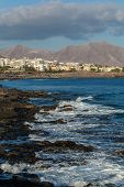 stock photo of costa blanca  - Image of Costa Blanca in Lanzarote - JPG