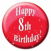 image of congratulations  - Happy Eighth Birthday Showing Congratulation Greeting And Congratulations - JPG