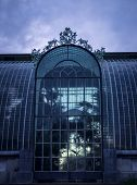 stock photo of bohemia  - winter botanical garden in Bohemia in the Lednice from the outside - JPG