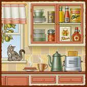 picture of crockery  - Retro kitchen - JPG