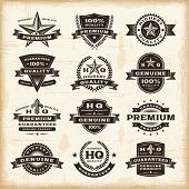 image of star shape  - Vintage premium quality labels set - JPG