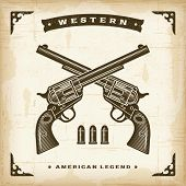 picture of revolver  - Vintage Western Revolvers - JPG