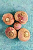 picture of turnips  - organic turnips - JPG