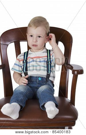 Little Boy In The Big Chair