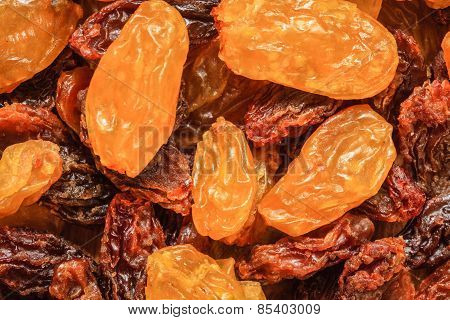 Raisin Dried Grape As Background Texture