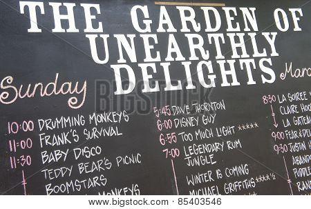 Garden Of Unearthy Delights