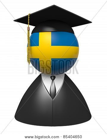 Sweden college graduate concept for schools and academic education