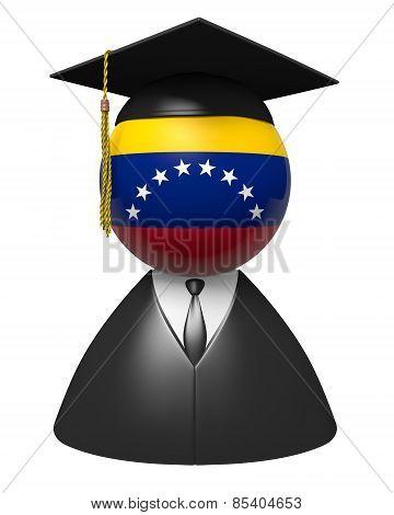 Venezuela college graduate concept for schools and academic education