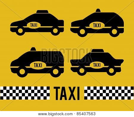 Taxi design over yellow background vector illustration
