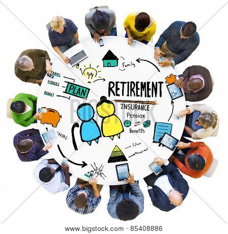 Diversity Casual People Retirement Digital Communication Network Concept