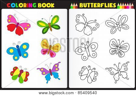 Coloring Book Butterflies