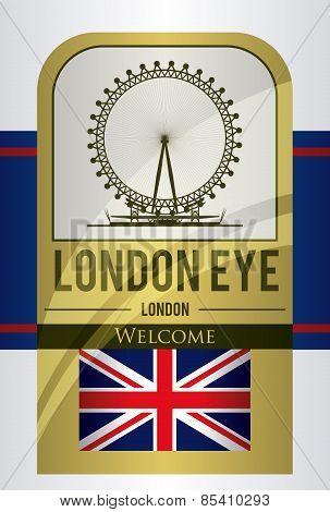 London design over gray background vector illustration