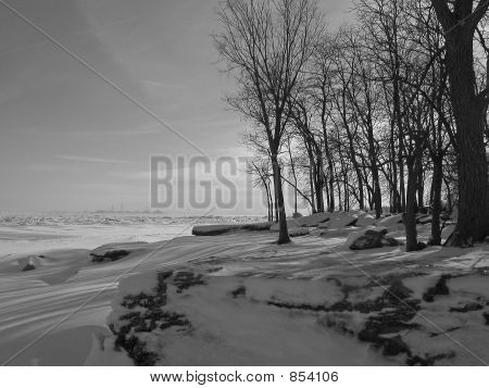 Winter Scene on Lake Erie