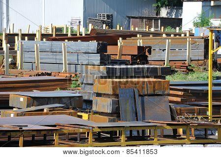 Steel rusty metal sheet