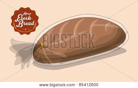 Bakery design over beige background vector illustration