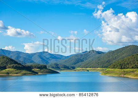 Mae Kuang lake in Thailand