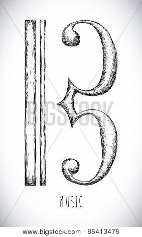 Music design over gray background vector illustration
