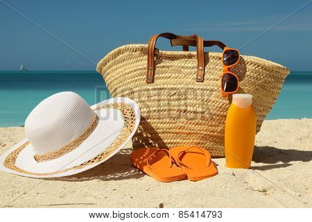 Beach Bag And Sun Protection