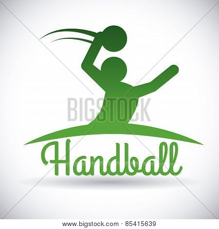 handball  design over gray background vector illustration