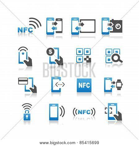 Nfc Technolgy Icon Set