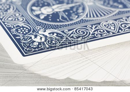 Macro of playing cards