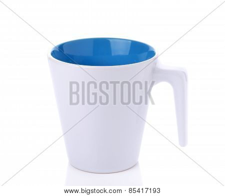 White Ceramic Glass On White Background