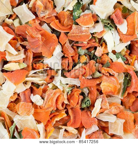 Macro of dehydrated vegetables