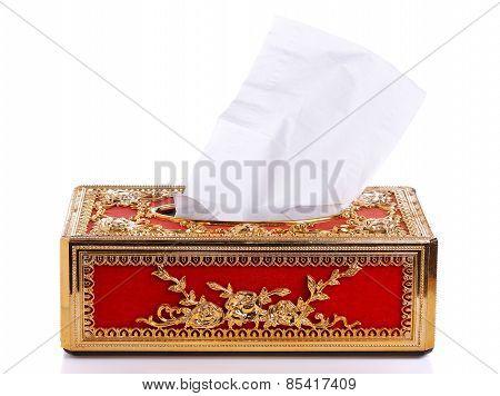Tissue Box Isolated On White Background
