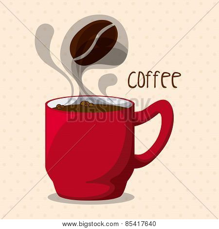 coffee design over pink background vector illustration