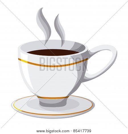 coffee design over white background vector illustration