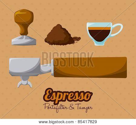 coffee design over beige background vector illustration