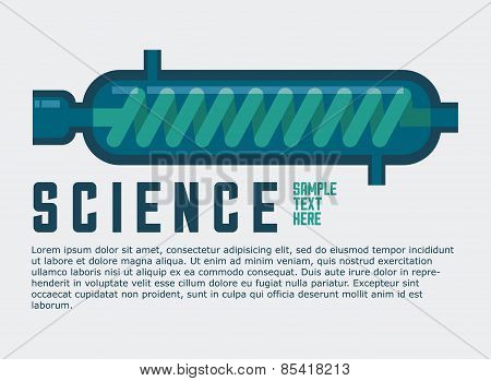 science design over white background vector illustration