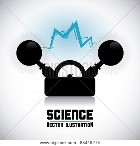 science design over gray background vector illustration