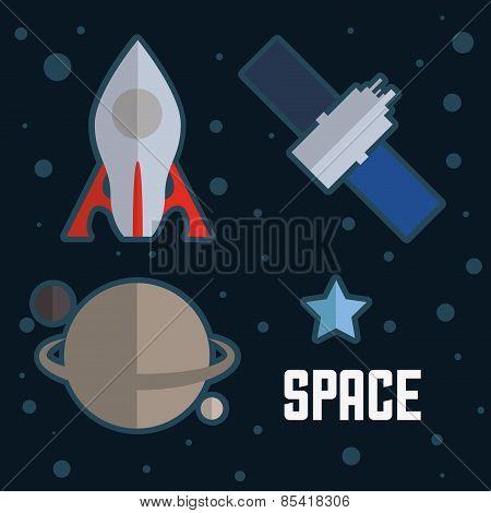 science design over blue background vector illustration