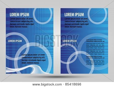 Flyer or brochure grid Design