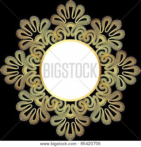Illustration Background With Gold Lace And Place For Text