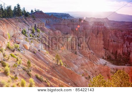 Breathtaking View Of Bryce Canyon As Viewed From Sunrise Point At Bryce Canyon National Park, In Uta