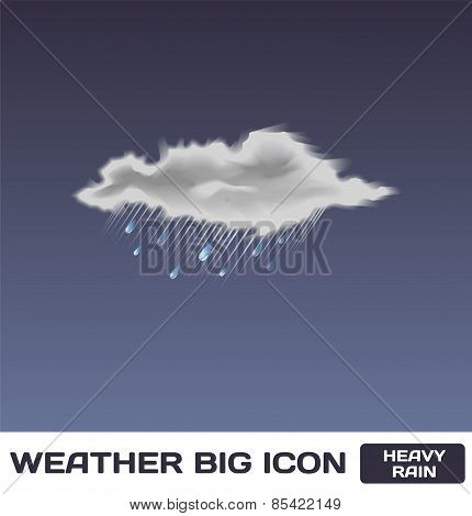 Vector Heavy Rain Icon