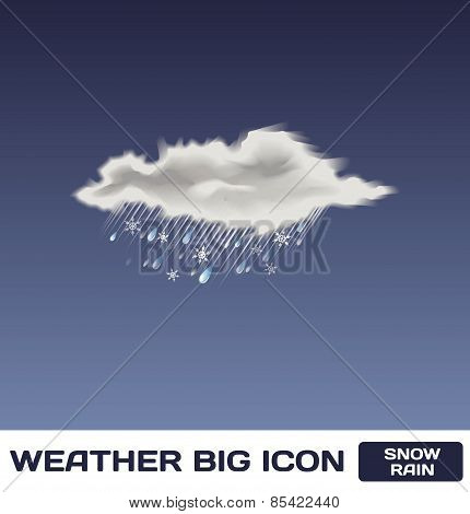 Vector Snow Rain Icon