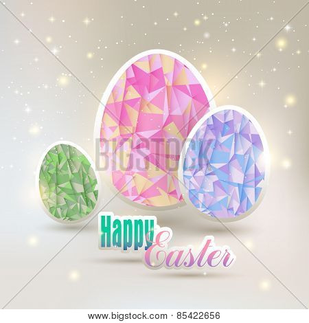 Easter, eggs with geometric elements