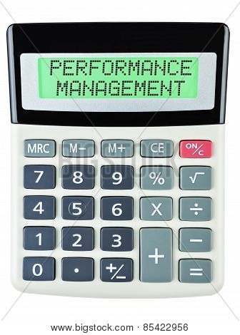 Calculator With Performance Management