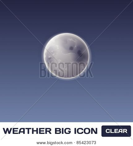 Vector Moon Icon