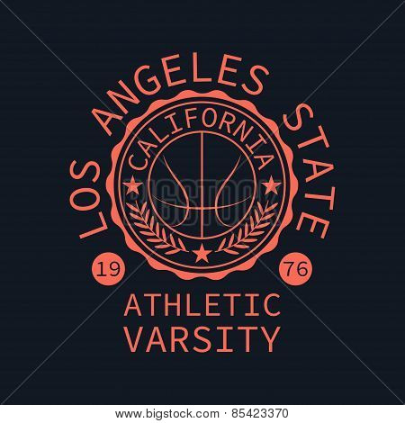 Athletic Varsity Stamp For Typography