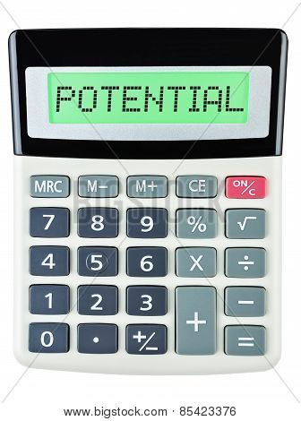 Calculator With Potential