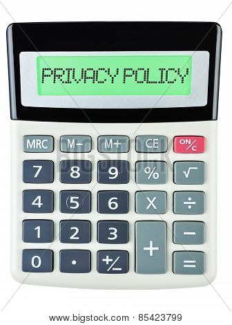 Calculator With Privacy Policy