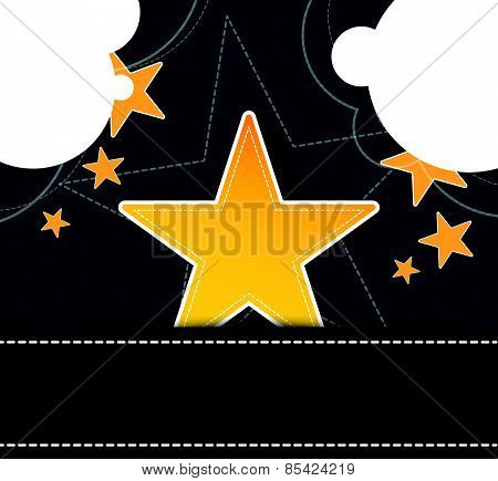 Star Label On Retro Design