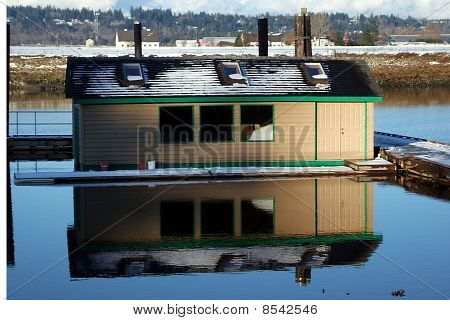 Boatshed Reflection