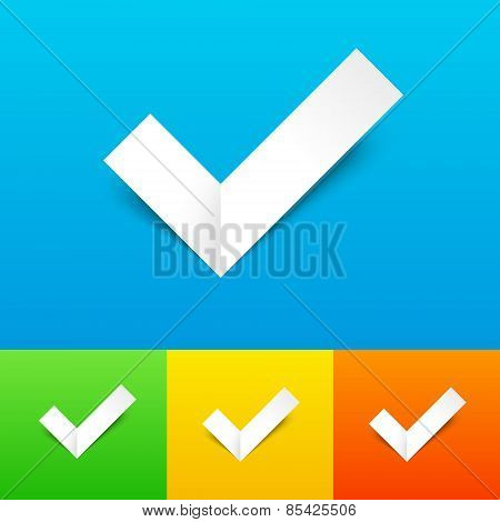 Vector Tick Confirmation Icon Set