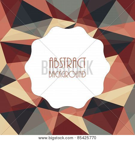 Abstract Template Background With Triangle Shapes Design